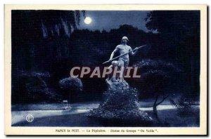 Old Postcard Nancy Night The Statue Peplniere Group One Sleep