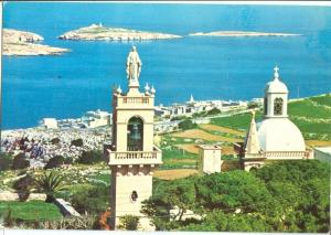Malta, St. Paul's Bay from Wardija Heights, 1987 used Postcard