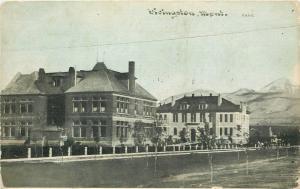 Livingston Montana~View of Buildings~1910 CU Williams Photoette Postcard