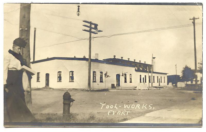 Evert OR Tool Works Mrs. Judge Sales RPPC Real Photo Postcard
