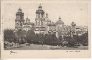 Mexico City? Mexico bird's eye view of La Gran Cathedral antique postcard Z2803