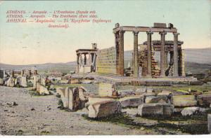 ATHENS, Greece, PU-1910; Acropolis, The Erectheion, East Side