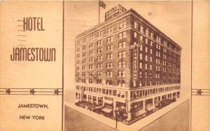 Jamestown New York~Hotel Jamestown~1945 Postcard