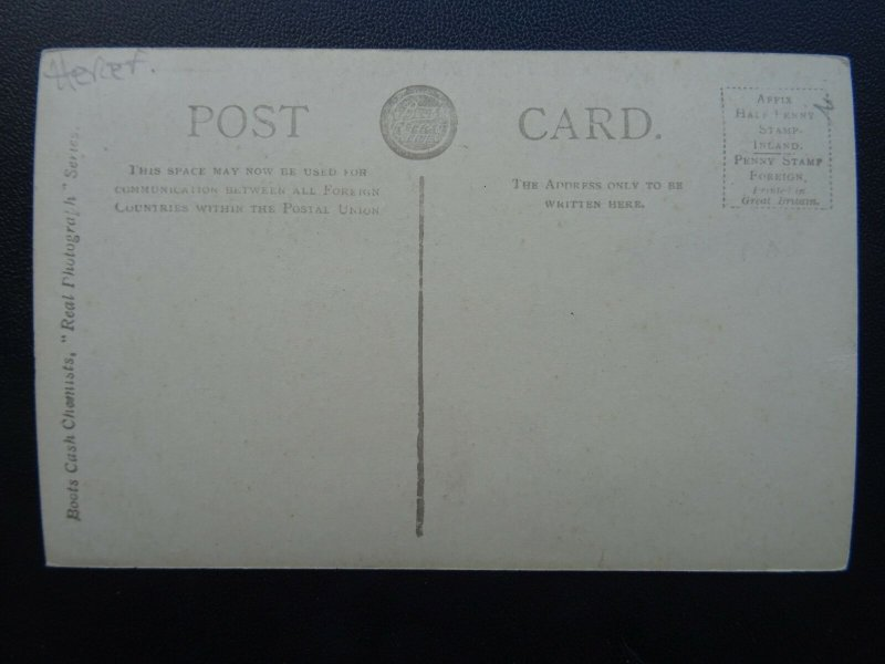 Herefordshire HEREFORD Coningsby Hospital & Memorial - Old RP Postcard
