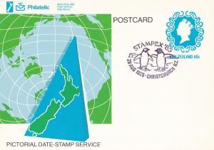 Stampex 85 New Zealand Christchurch Penguins Frank Postcard FDC