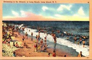 New York City Swimming In The Atlantic At Long Island