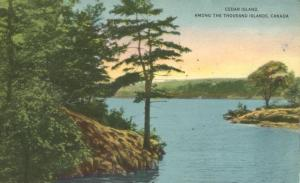 Cedar Island among Thousand Isalnds - Ontario, Canada pm 1953