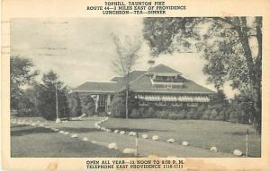 Tophill Restaurant Taunton Pike east of Providence RI 1941PC