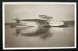 Mint Dornier DOX Giant Seaplane Real Picture Postcard Parked