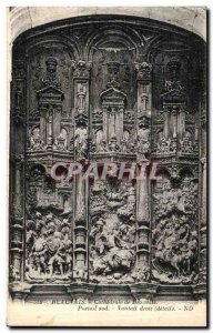 Old Postcard Beauvais Cathedral Beauvais South Gate leaf Right