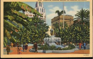 California LOS ANGELES Fountain Pershing Square - LINEN