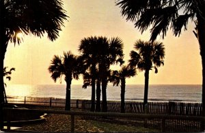 South Carolina Myrtle Beach Greetings Sunrise At The Pavilion 1966