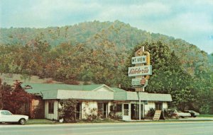 Postcard Mountain View Cafeteria Maggie Valley North Carolina