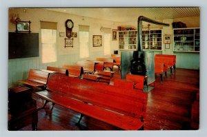 Minden NE, Pioneer Village, One Room Country School, Chrome Nebraska Postcard