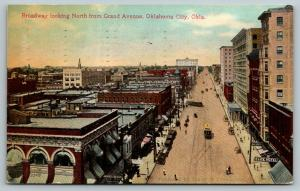 Oklahoma City~Broadway @ Grand~Elite Hotel~Trolleys~Nice People In South~1910