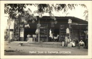 Native Store - Panama Interior ReaL photo Postcard dcn
