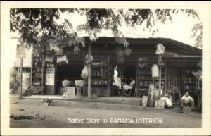 Native Store - Panama Interior ReaL photo Postcard dcn
