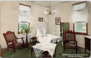 Rochester Minnesota~St Mary's Hospital Bedroom~4 Poster Bed~Rocking Chair~1915