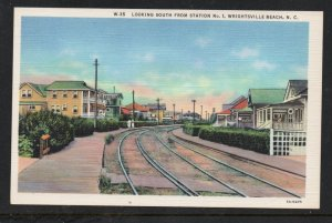 North Carolina colour PC Looking South Sta 1  Wrightsville Beach, N.C.  unused