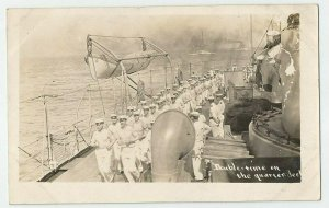 Real Photo POSTCARD ~ GWF ~US Navy ~ DOUBLE TIME on QUARTER DECK ~ Circa 1908