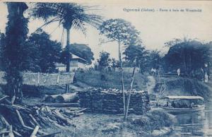 RP: GABON , 1900-10s , OGOOUE , Poste a bois de Wombolie