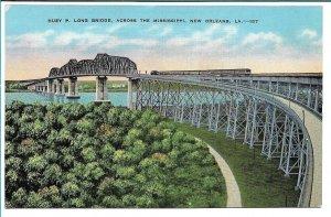 New Orleans, LA - Huey P. Long Bridge - 1942 - Free Frank