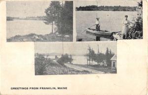 Franklin Maine Scenic Multiview Antique Postcard K104016