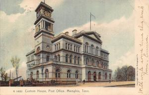 Memphis Tennessee~Custom House & Post Office~Clock Tower~1905 Rotograph Postcard