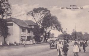 Batavia Kramat Kampoeng Bali Java Indonesia Old Postcard