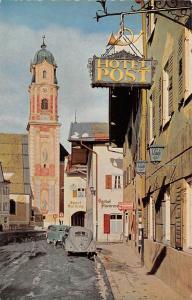 Mittenwald Hotel Post Gasthaus Pension Street Auto Vintage Cars