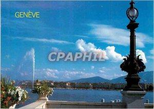 Modern Postcard Geneve Lakeside jet of water