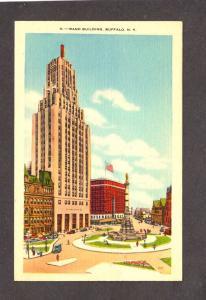 NY Rand Building Bldg Buffalo New York Postcard PC Linen