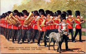 c1910 Irish Guards Regiment Irish Wolfhound Regimental Mascot Postcard