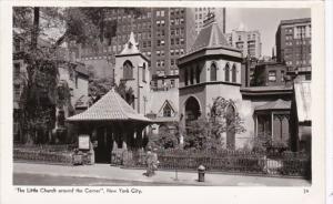 New York City The Little Church Around The Corner Real Photo