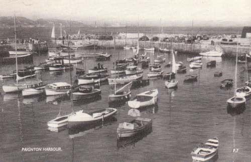 Paignton Harbour Bay Devon Real Photo Postcard