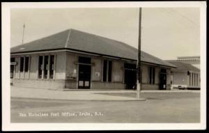 Aruba, N.A., SAN NICHOLAAS, Post Office (1940s) RPPC