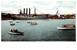 Maine Bath , Launchinh of Ship Georgia