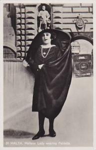 RP: MALTA; Maltese lady wearing Faldetta , 20-30s