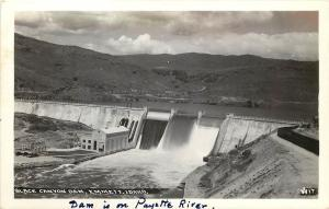 W.Andrews RPPC Postcard 17 Black Canyon Dam, Payette River, Emmett ID Gem Co.