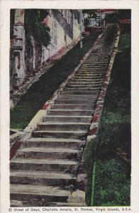 Street of steps, Charlotte Amalie, St. Thomas, Virgin Islands, U.S.A., 40-60s