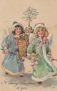 ANGELS carry christmas Tree , 1907 ; PFB 7882