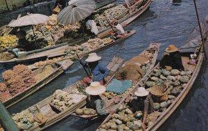 BANGKOK, Thailand, 1950-1960s; Floating Market, Mahanak