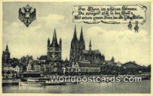 Koln a Rh Germany Writing on back