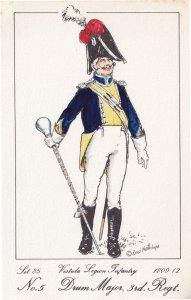 Vistula Legion Infantry Polish Drum Major Soldier Napoleonic War Uniform Post...