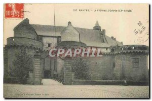 Old Postcard Nantes Chateau l'Entree