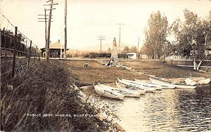 Silver Lake NH New Railroad Station Train Depot Boat Landing RP Postcard