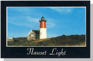 Eastham, Mass/Ma Postcard, Nauset Light/Lighthouse, Cape Cod
