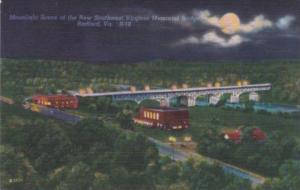 Virginia Radford New Southwest Virginia Memorial Bridge By Moonlight
