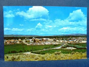 Postcard WY Pinedale View of Town