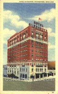 Hotel Alexander Hagerstown MD 1953
